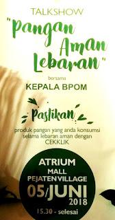 Banner Talkshow Pangan Aman Lebaran