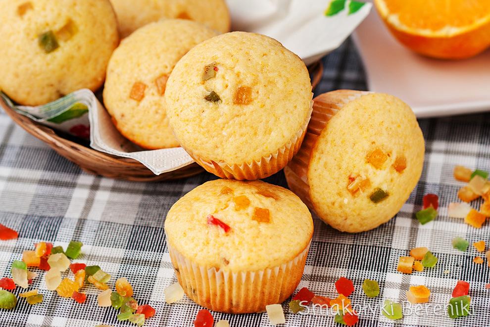 Muffiny z mieszanką keksową