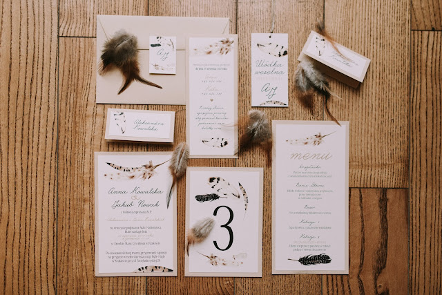 Zaproszenia ślubne etno.