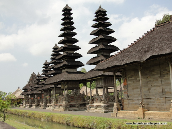 scenic with canal at Taman Ayun Temple  in Mengwi village, Bali