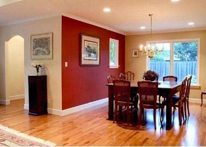 Painting Small Open Kitchen Dining Area
