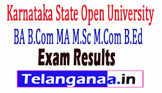 KSOU BA B.Com MA M.Sc M.Com B.Ed Exam Result 2018 ksoumysore.ind.in