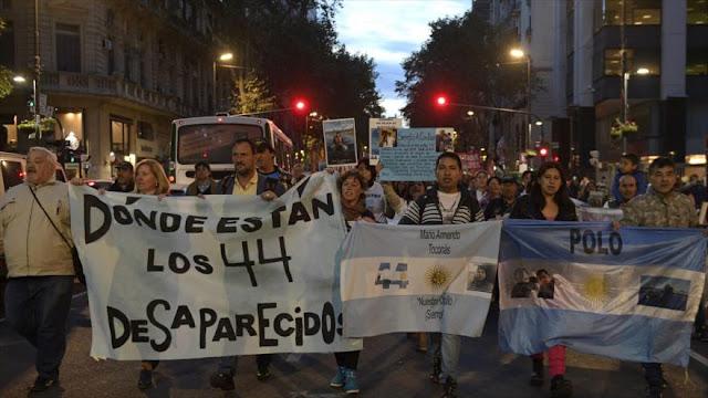 Familiares exigen respuesta sobre destino de submarino argentino