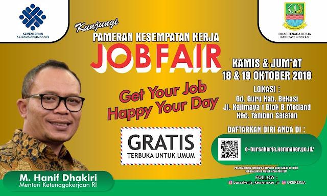 Job Fair / Bursa Kerja Gratis di Bekasi