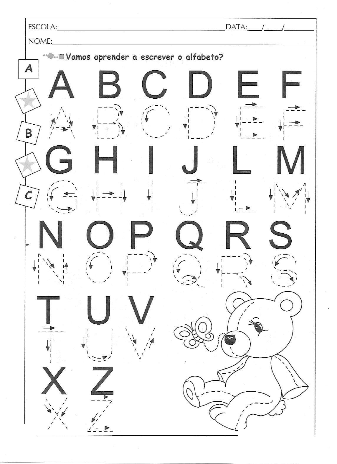 Fabuloso EDUCAÇÃO INFANTIL: ATIVIDADES PARA IMPRIMIR COM O ALFABETO OU97
