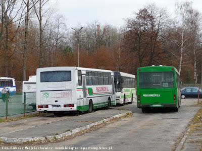 Autosan H10-11, Pegaso 6424 i MAN SL283 na dawnych przystankach dla wysiadających oświęcimskiego dworca
