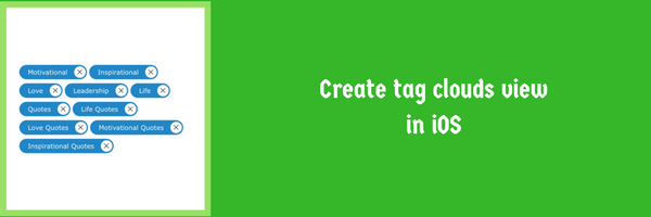 Create tag clouds view in iOS