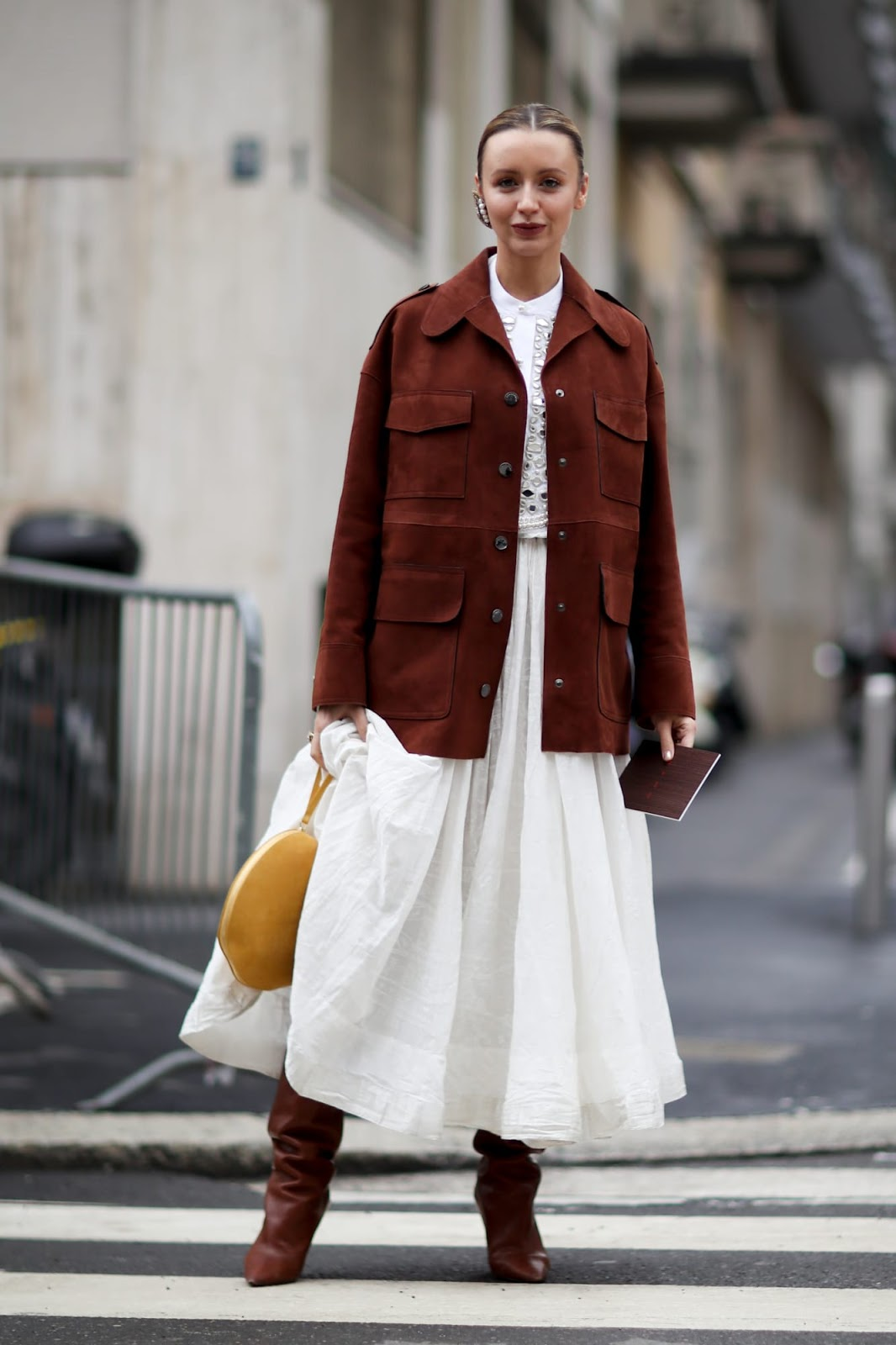 How to Transition Your Favorite White Dresses Into Fall — Street Style Inspiration