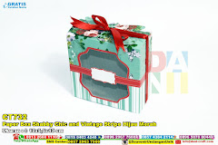 Paper Box Shabby Chic And Vintage Stripe Hijau Merah
