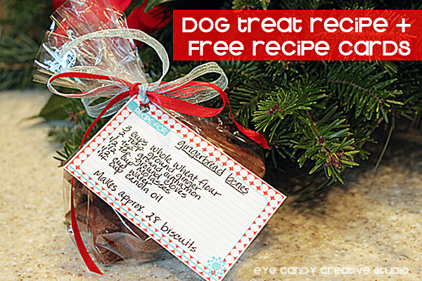 dog treat recipe + free recipe cards, dog biscuit recipe, gingerbread treats