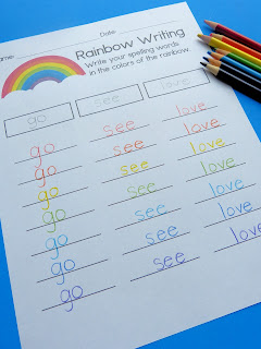 https://www.teacherspayteachers.com/Product/Rainbow-Writing-Editable-Spelling-Practice-3091964