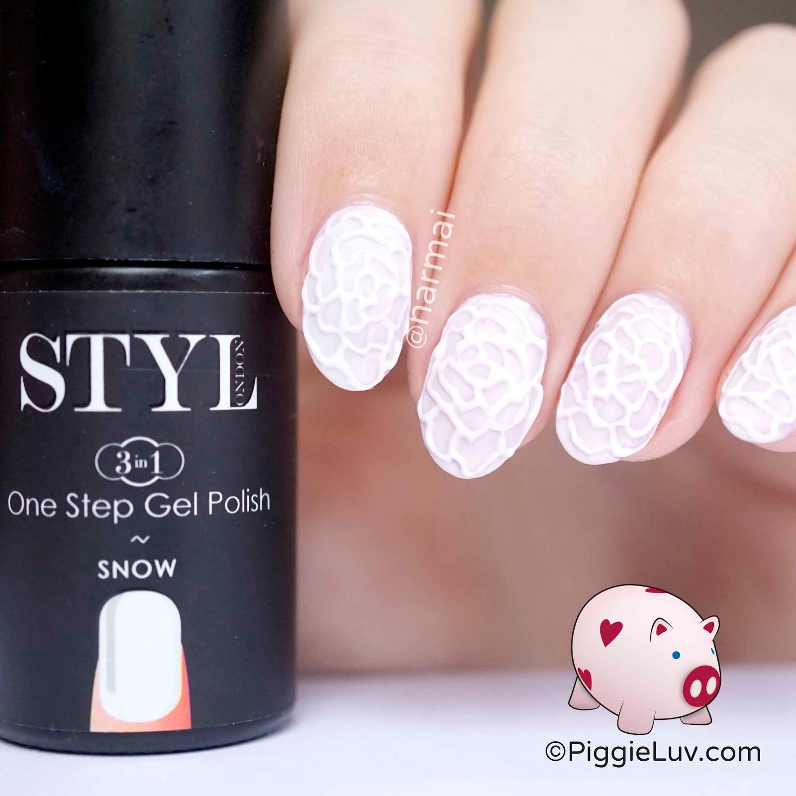 Piggieluv 3d Lace Rose Nail Art