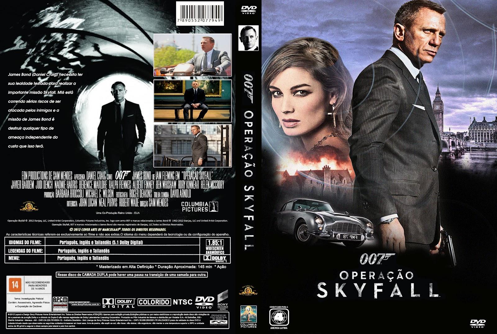 007 Skyfall DVD-...007 Skyfall Dvd Cover