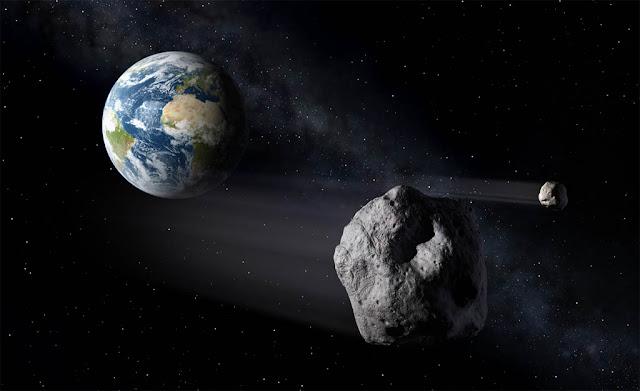 asteroide proximo da terra - ilustração