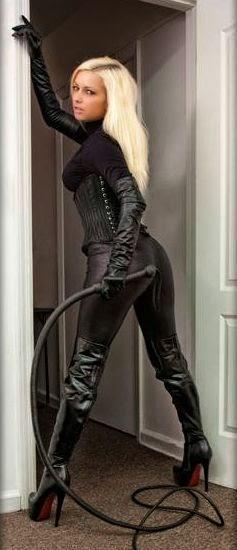 BDSM leather dominatrix mistress