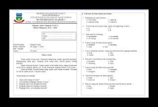 Soal UAS Bahasa Sunda KTSP Kelas 3 Semester 1