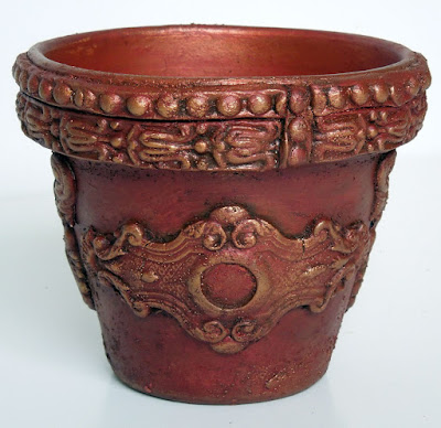 WOYWW #477: Altered terracotta pot