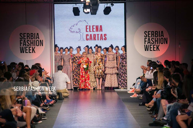 Elena Cartas at Serbia Fashion Week