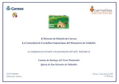 Invitación presentación sello Valdediós