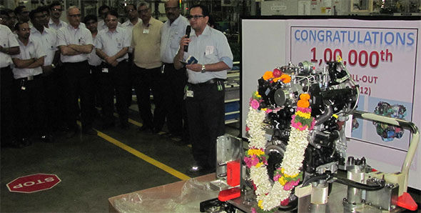 GM+India+Talegaon+Facility+Rolls+Out+100,000th+engine