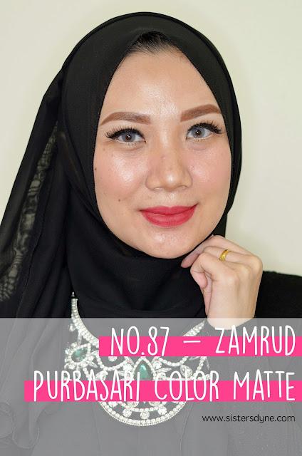 purbasari lipstick color matte 87 zamrud
