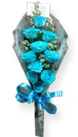 Buket Mawar Biru Toko Bunga Rose Florist Toko Bunga Jakarta
