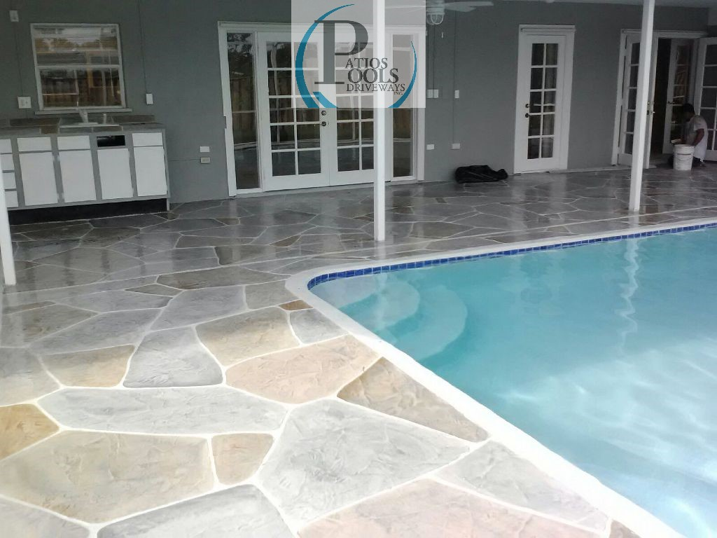 Decorative Concrete Overlay Decorative Concrete The Many Faces For Your Driveway Patio Or