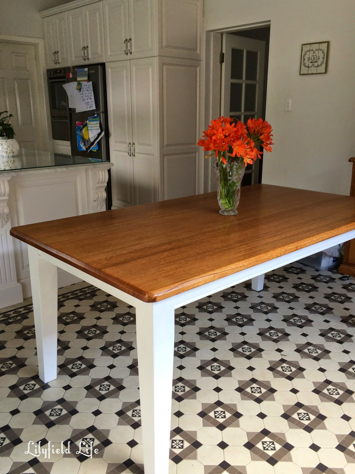 Lilyfield Life Dining Table French Kitchen And A Tiled Floor