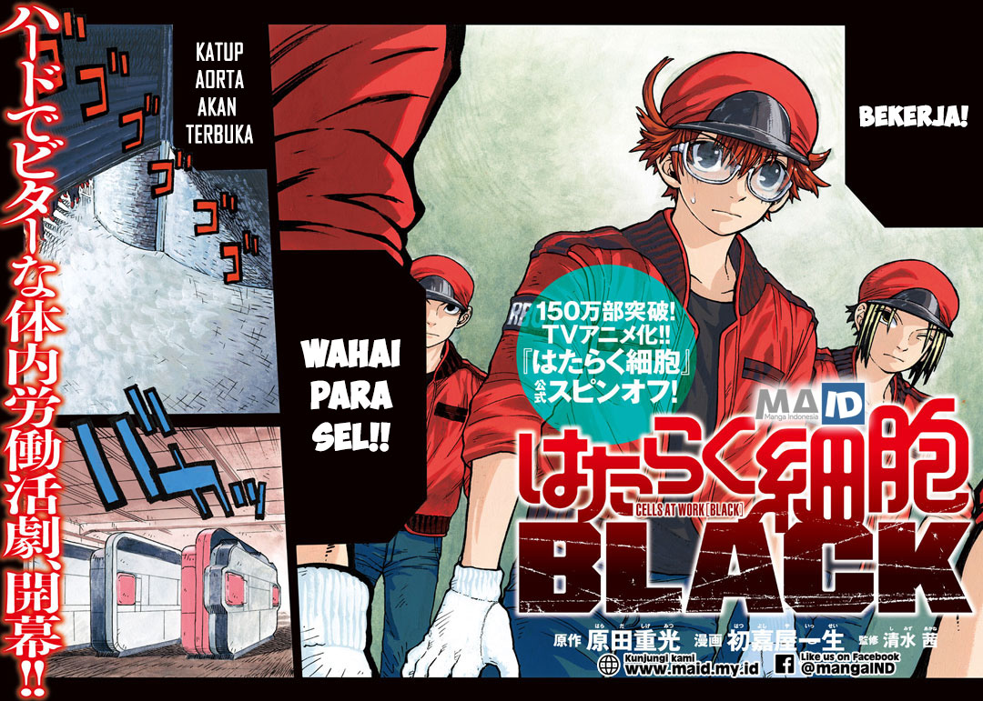 Baca Komik Hataraku Saibou BLACK Bahasa Indonesia Chapter 01 -  Komikindo