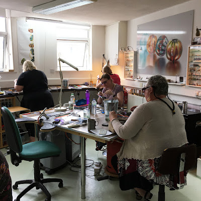 Lampwork class at MangoBeads in Barnstaple, Devon