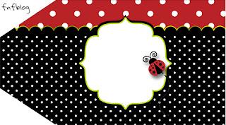 Ladybug Party Free Printable Tags.