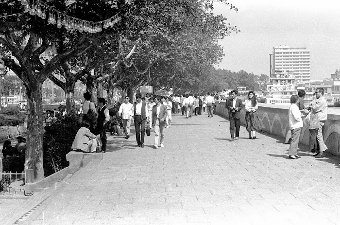 Shanghai, Bund, Zhongshan, © L. Gigout, 1990