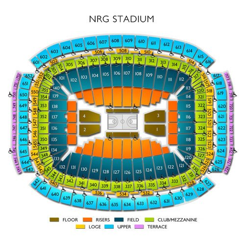 reliant stadium seating chart - Nrg Stadium (formerly Reliant Stadium) Seating Chart Row & Seat
