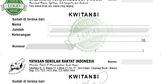 Kumpulan Desain Kwitansi Format Coreldraw Cdr Salamun Picassa