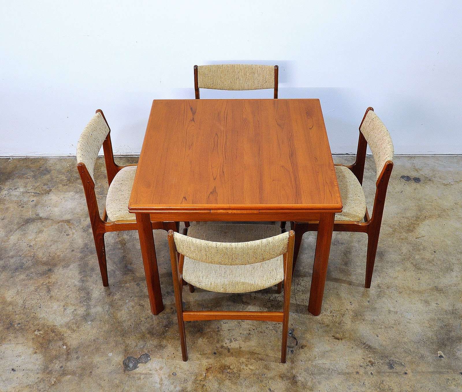 SELECT MODERN: Set Of 4 Danish Modern Teak Dining Chairs