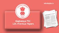 Meghalaya PSC LDC Previous Papers
