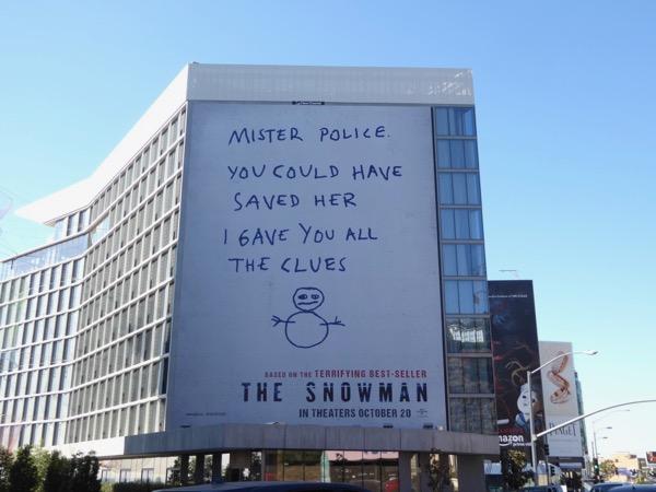 Snowman film billboard