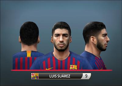 PES 6 Faces Luis Suárez by Alegor