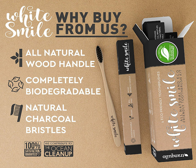 all natural toothbrush, whitening toothbrush, biodegradable toothbrush