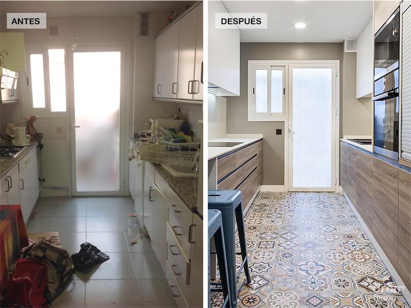 El antes y despues de una vivienda reformada por completo before and after house renovation - Reforma piso pequeno antes y despues ...