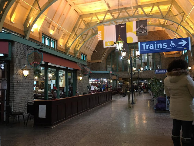 Québec City's Gare du Palais interior