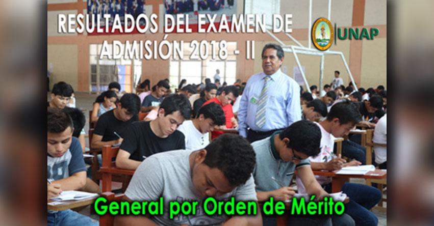 Resultados Examen Admisión UNAP - IQUITOS 2018-2 (Domingo 4 Marzo) Ingresantes Universidad Nacional de la Amazonía Peruana - www.unapiquitos.edu.pe
