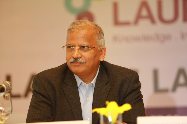 Dr.Satyanaraya Chava, the CEO of Laurus Labs at the IPO Press Conference