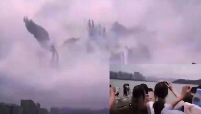 Fenómeno extraño en los cielos de China