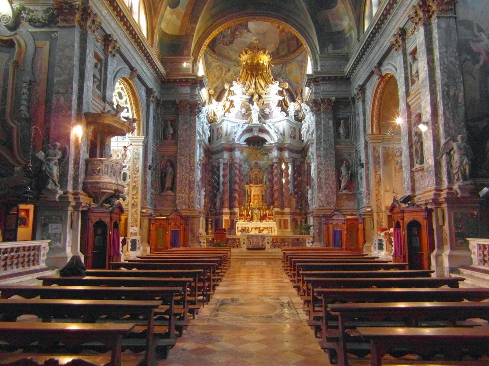 Interior of the Chiesa degli Scalzi, Venice