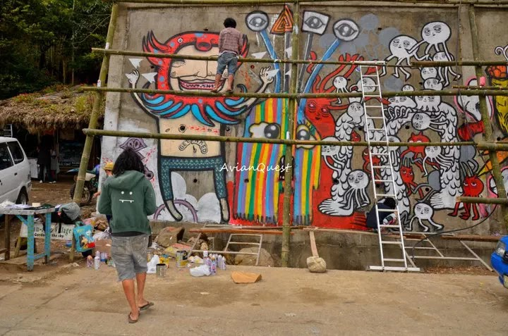 Tamawan Village Making of a Graffitti Mural Baguio City Philippines 19