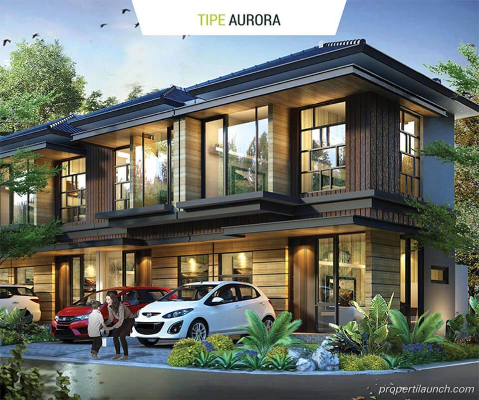 Rumah Golden Stone Serpong Cluster Agate Tipe Aurora