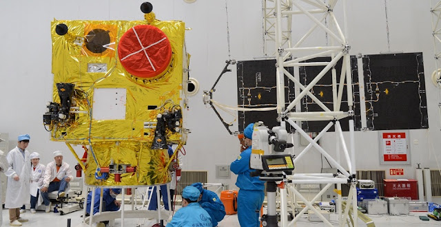 The assembly of the VRSS-2 satellite. Photo Credit: Bolivarian Agency for Space Activities