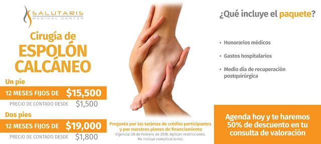 Precio Cirugia de pies para Espolón Calcaneo en Guadalajara Mexico