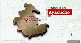 Temblor en Ayacucho de 3.6 Grados (Hoy Sábado 23 Septiembre 2017) Sismo EPICENTRO Coracora - Parinacochas - IGP - www.igp.gob.pe